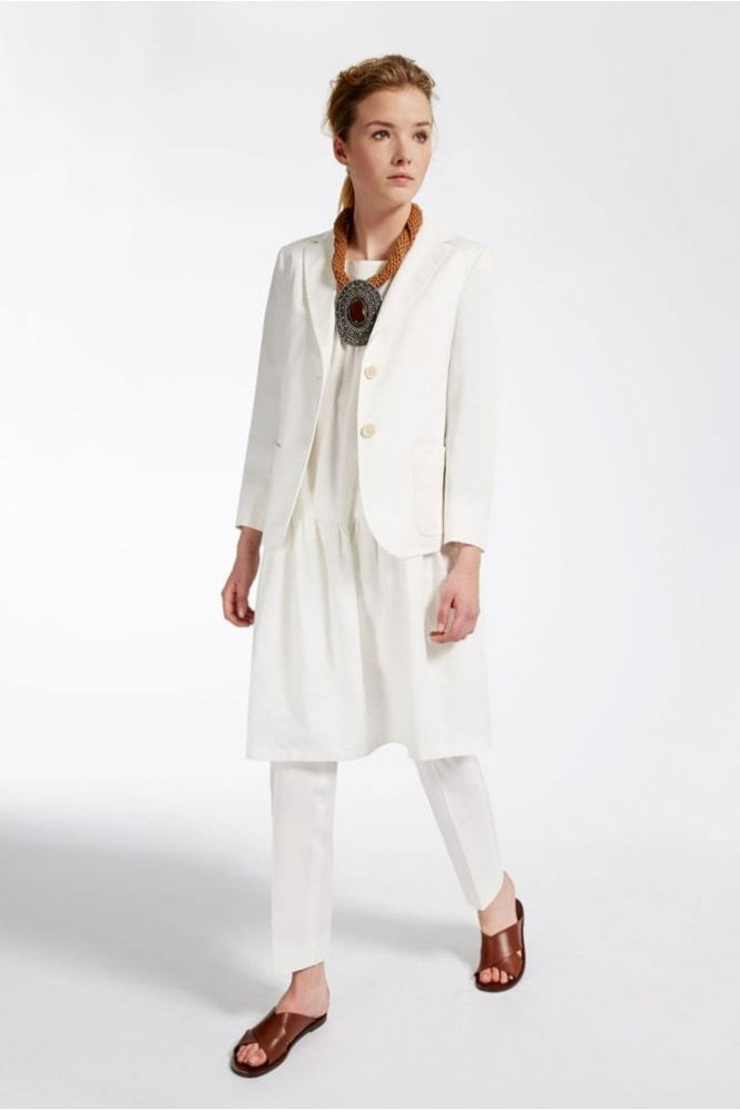Weekend MaxMara Cleo Stretch Cotton Trousers in White