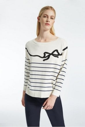 Curzio Silk and Cotton Striped Sweater