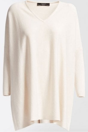 Giorno Silk and Wool Jumper in White