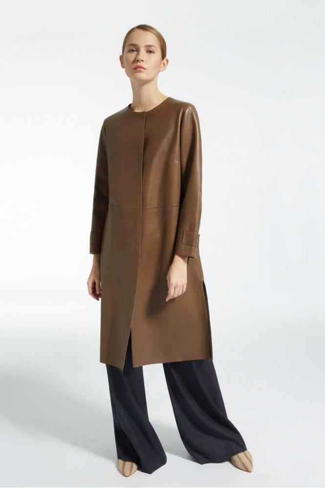 Weekend MaxMara Gloire Leather Duster Coat