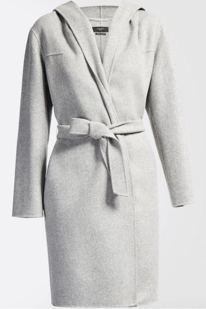 Weekend MaxMara Harlem Wool Coat in Pearl Grey