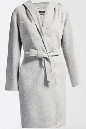 Harlem Wool Coat in Pearl Grey