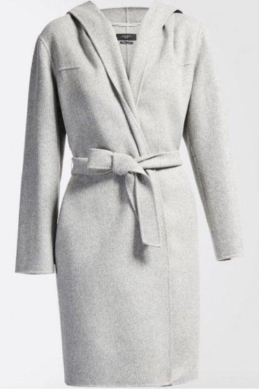 Harlem Wool Coat in Pearl Grey