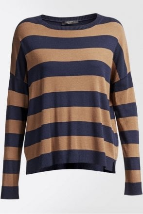 Hidesia Stretch Viscose Knit Shirt in Tobacco