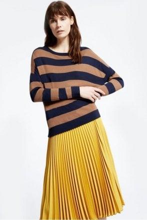 Hidesia Stretch Viscose Knit Shirt in Tobacco
