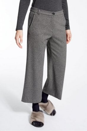 Jacquard Jersey Trouser in Dark Grey