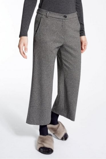 Jacquard Jersey Trouser in Dark Grey