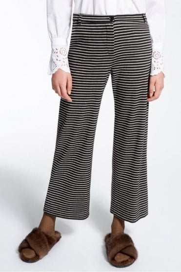 Jacquard Jersey Trousers in black
