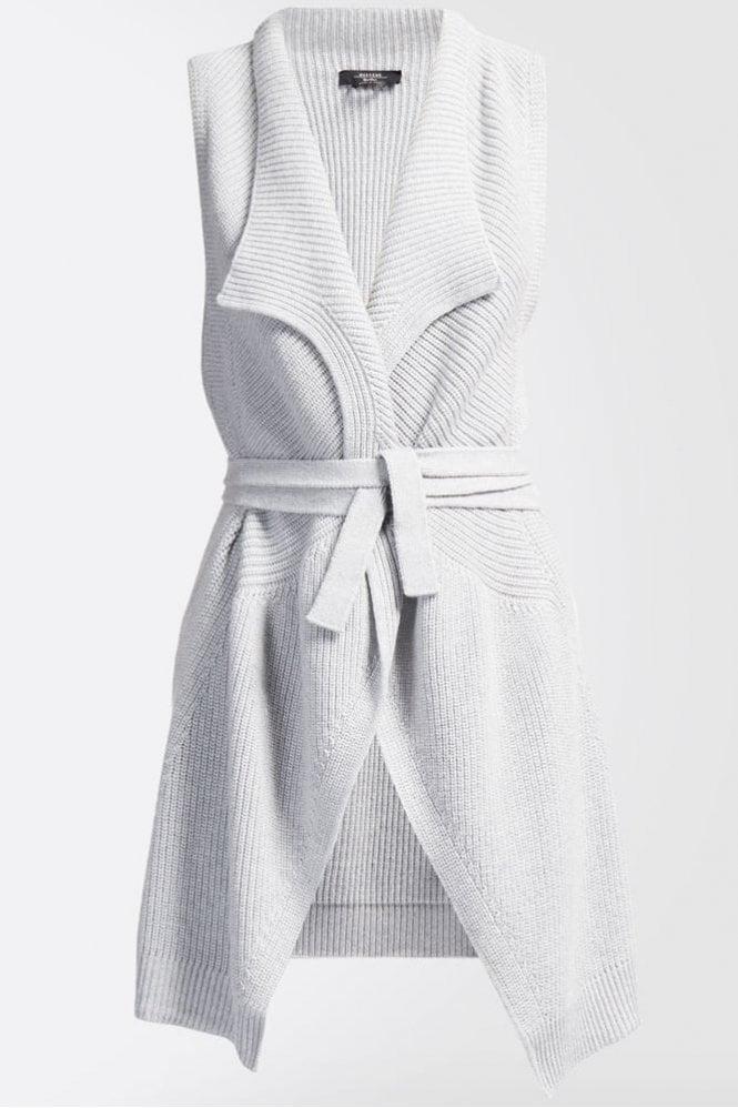 Weekend MaxMara Laura Pure Wool Gilet in Pearl Grey