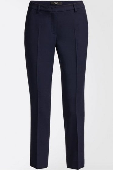 Lecito Wool Cloth and Viscose Trousers in Ultramarine