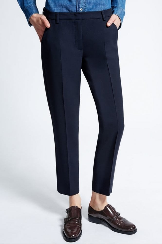 Weekend MaxMara Lecito Wool Cloth and Viscose Trousers in Ultramarine