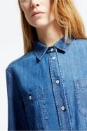 Weekend MaxMara Leslie Cotton Denim Shirt in Midnight Blue