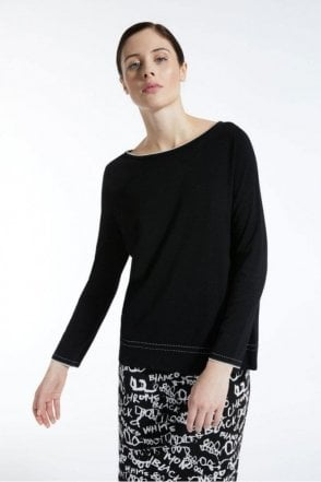 Limosa Viscose Yarn Jumper in Black