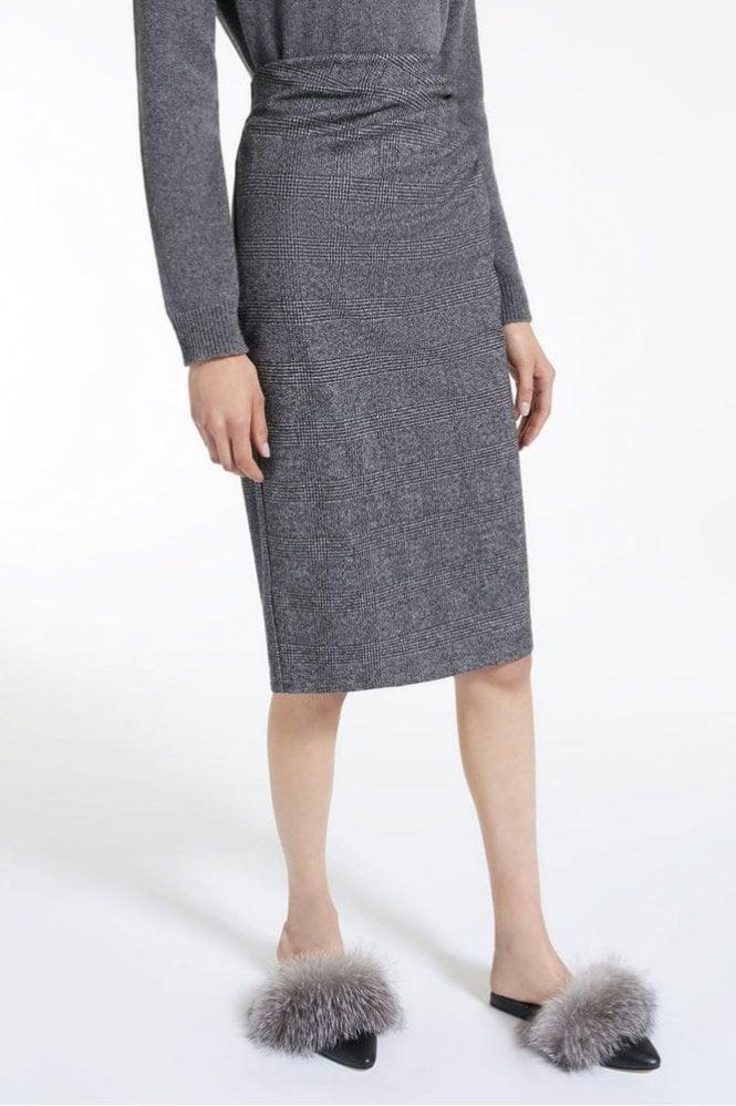 Weekend MaxMara Mazurca Viscose Jersey Skirt in Dark Brown