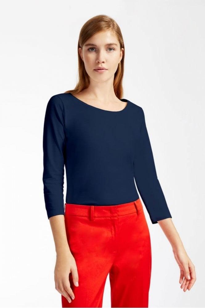 Weekend MaxMara Multic Cotton Jersey T-Shirt in Ultramarine