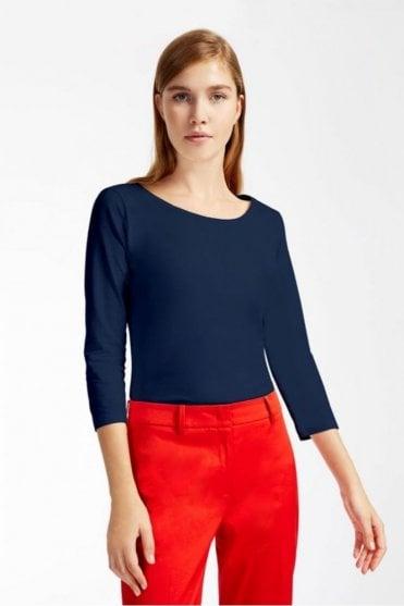 Multic Cotton Jersey T-Shirt in Ultramarine