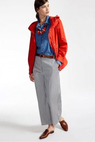 Osaka Cotton Blend Trousers in Ultramarine