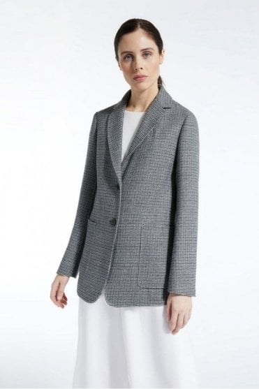 Ossido Wool Blazer in Dark Grey