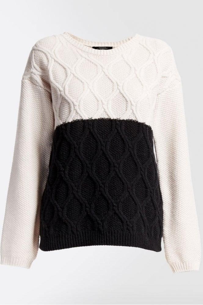 Weekend MaxMara Panarea Pure Wool Knit Shirt in Ivory