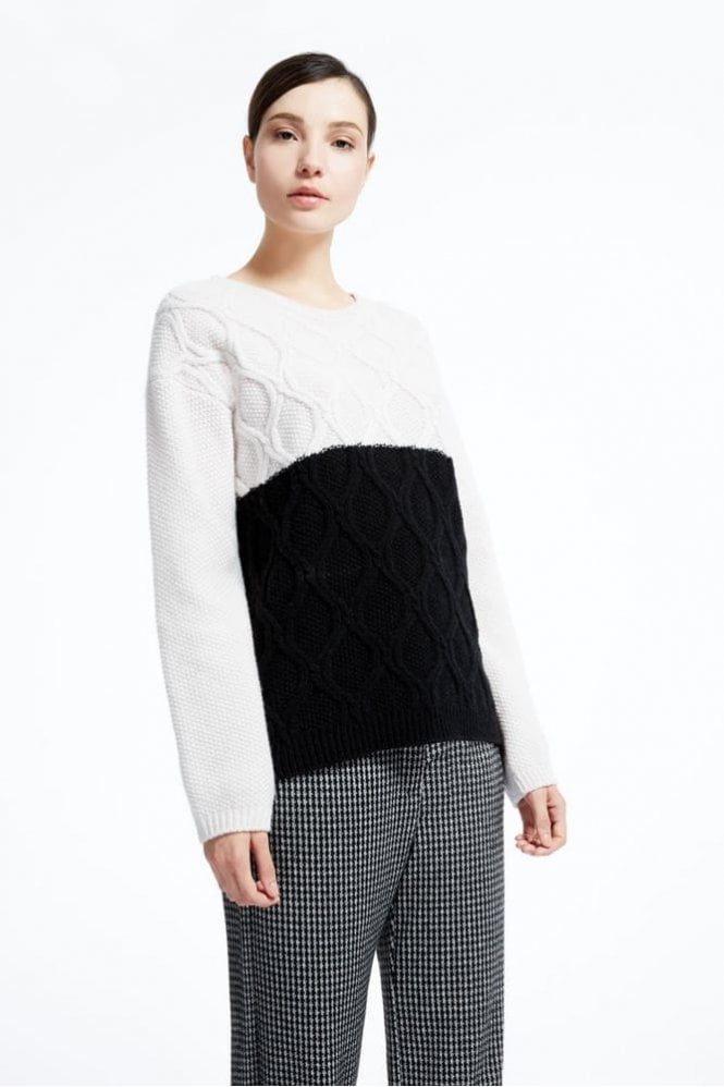 Panarea Pure Wool Knit Shirt in Ivory