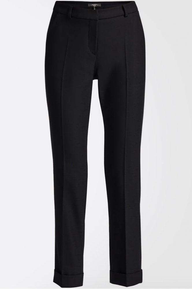Weekend MaxMara Picasso Wool Blend Trousers in Black