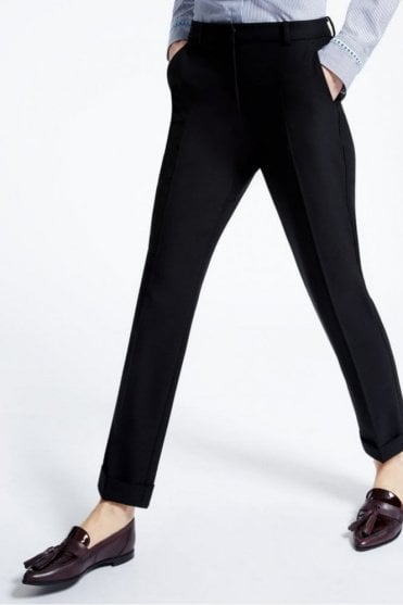 Picasso Wool Blend Trousers in Black