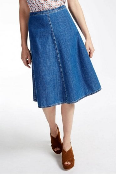 Plata Denim Skirt in Ultramarine