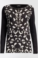 Weekend MaxMara Pleiadi Silk and Jersey Knit Shirt in Black