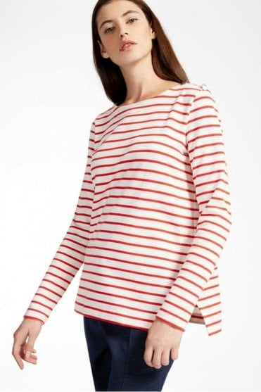 Rabbino Cotton Jersey Sweater in Red