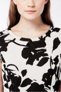 Weekend MaxMara Sabrina Patterned Neoprene Tulip Dress in Black