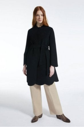 Sacco Wool Coat in Black