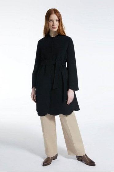 Sacco Wool Coat in Black
