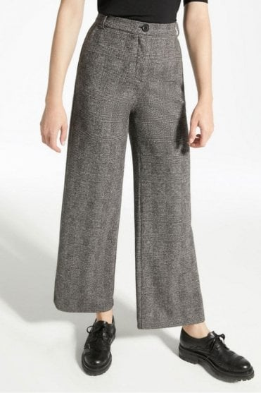 Segnale Viscose Jersey Trousers in Dark Brown