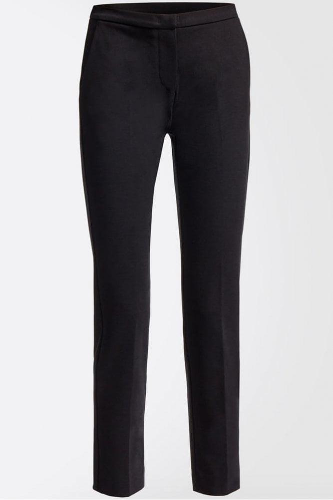 Weekend MaxMara Sila Technical Jersey Trousers in Black