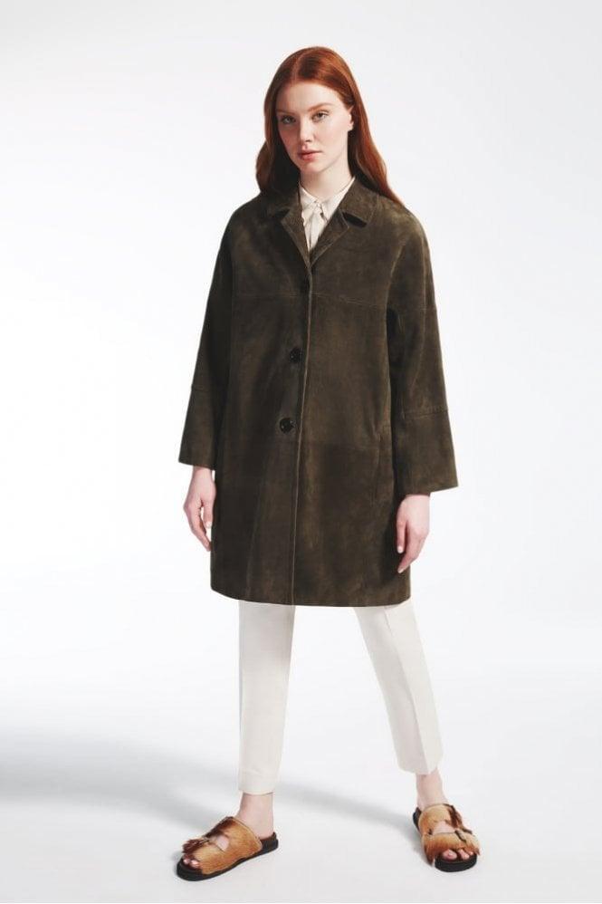 Weekend MaxMara Suede Leather Duster Coat