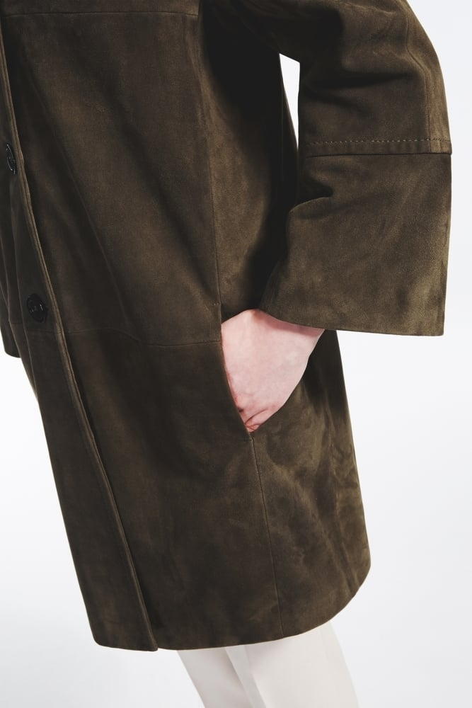 b8f8ece433 Weekend MaxMara Suede Leather Duster Coat at Sue Parkinson