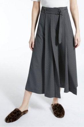 Termoli Stretch Cady Trousers in Black