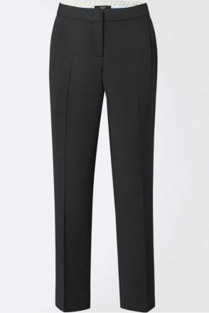 Titty Stretch Twill Masculine Trouser in Black