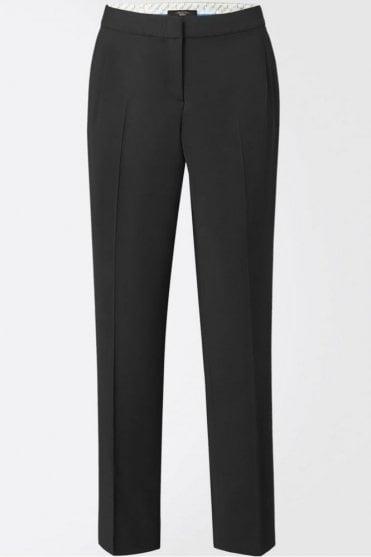 Titty Stretch Twill Masculine Trouser in Black