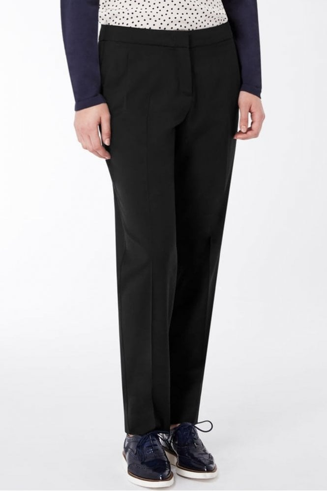 Weekend MaxMara Titty Stretch Twill Masculine Trouser in Black