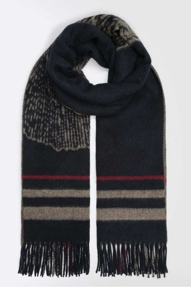 Weekend MaxMara Wool Scarf with Jacquard Design
