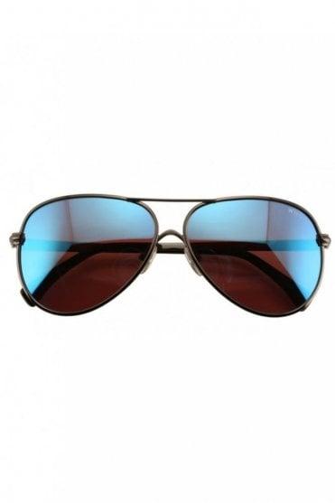 Airfox 2 Deluxe Sunglasses in Gun Metal/Blue