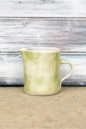 Plain Jug in Beach Sand Green Wash