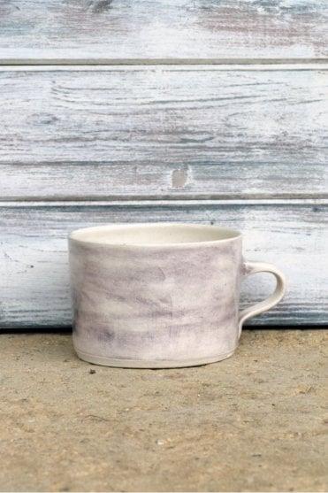 Squat Mug in Aubergine