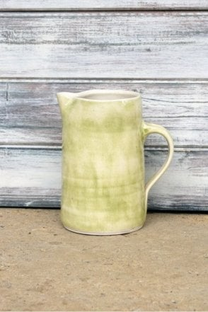 Tall Skinny Jug in Beach Sand Green
