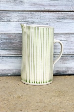 Tall Skinny Jug in Green Stripe