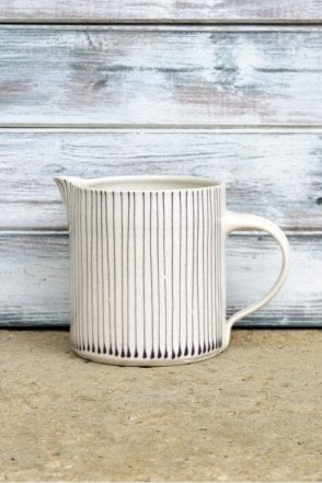 Thin Stripe Jug in Aubergine - 500ML