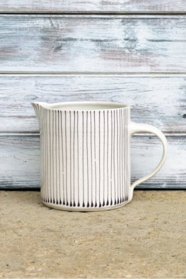Thin Stripe Jug in Aubergine - 500ML