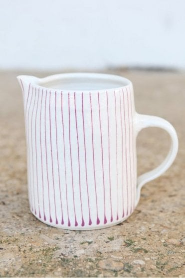 Thin Stripe Jug in Pink