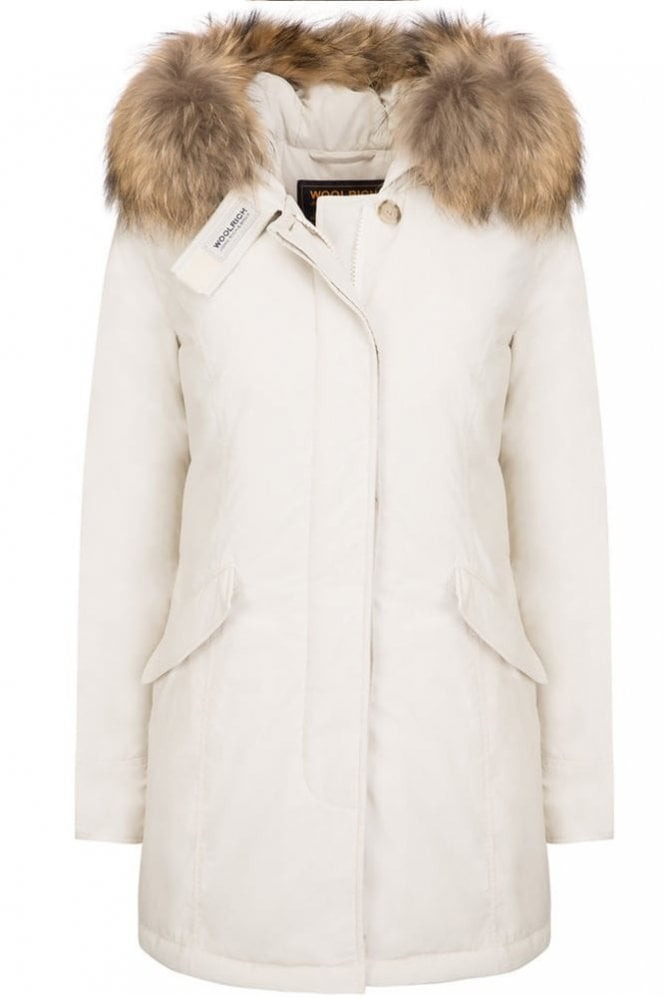 Woolrich W's Luxury Arctic Parka in Frozen White